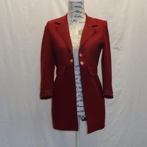 kids burgundy long tailcoat