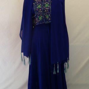 royal blue eastern style vintage dress costume
