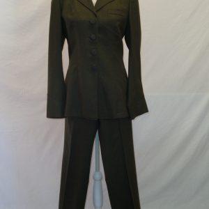 genuine vintage khaki ladies military trouser suit