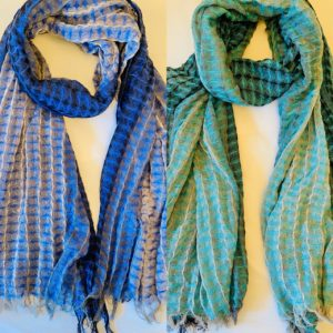cotton scarf - checked rectangular