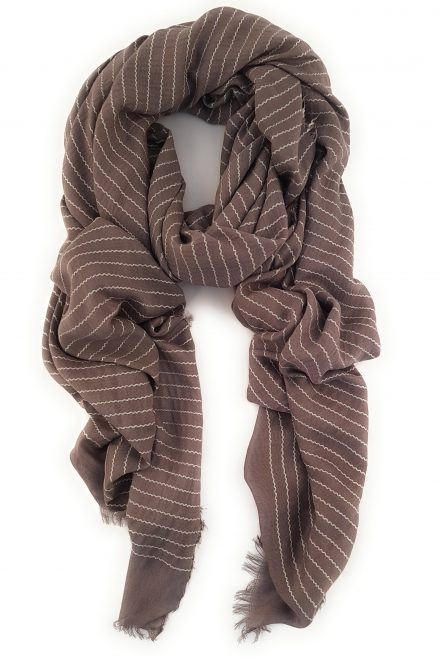 Grey/Pink long cotton scarf