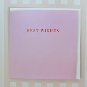Blank Best Wishes Card
