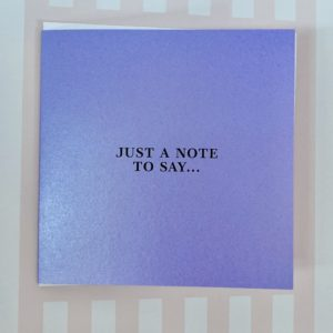 Just a note good wishes card