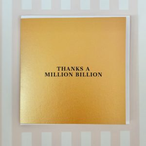 Thank you card personalise