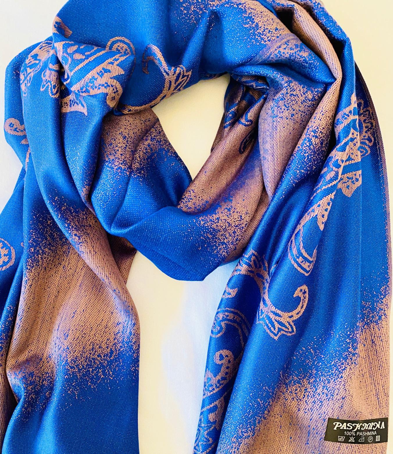 Pashmina royal blue gifts alsager