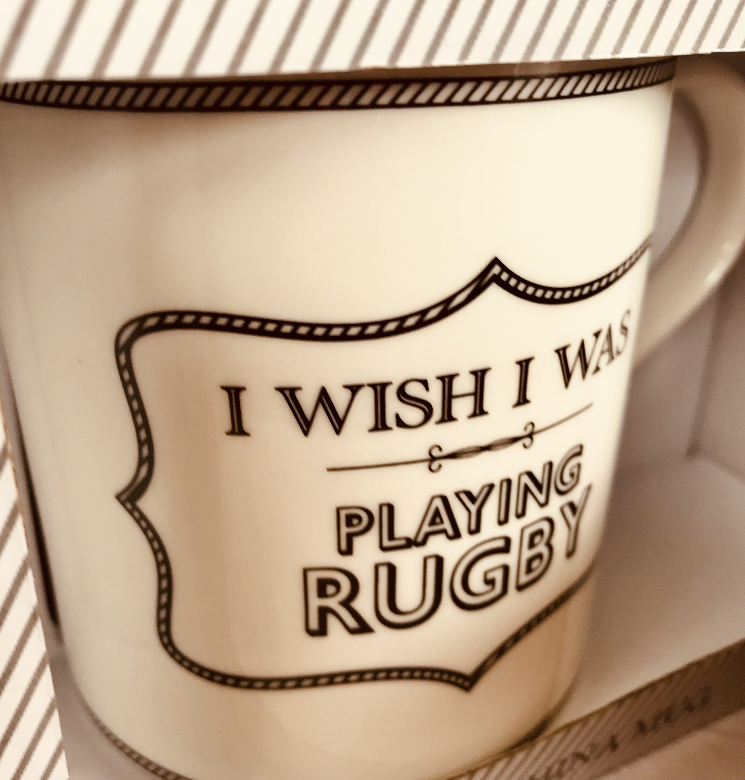 Rugby mug gift dad fathers day