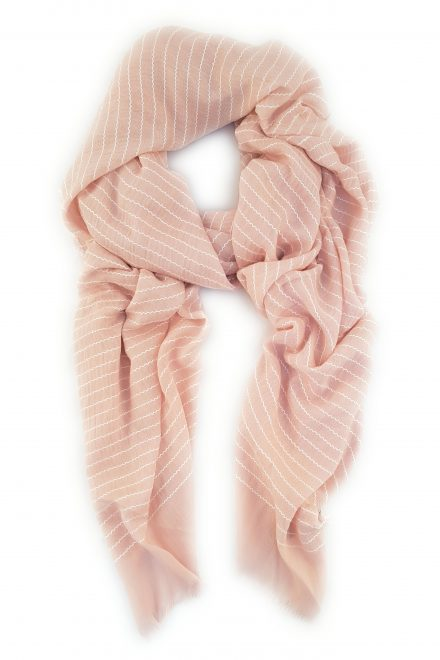 long cotton scarf pink or grey