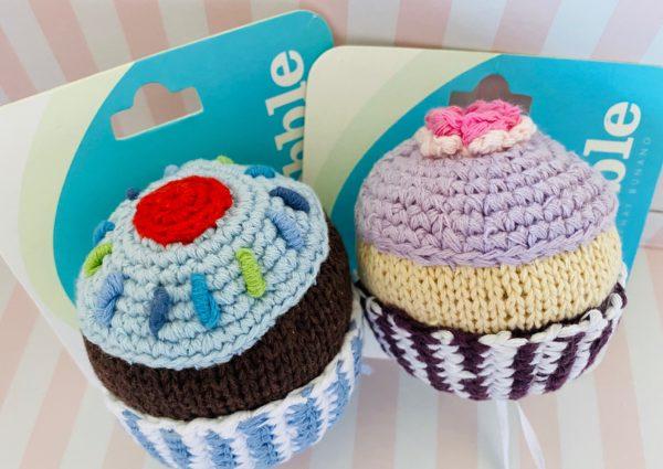 Cotton Cupcake Baby Rattle Newborn Fair Trade