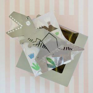 Dinosaur money box wooden gifts kids