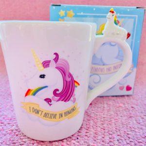 Unicorn I Don't Believe In Humans Mug