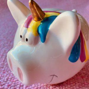Unicorn Piggy Money Bank ceramic