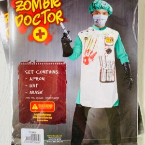 Zombie Doctor Kit Apron Hat and Mask