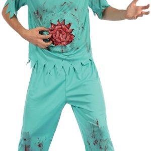 Zombie surgeon halloween costume adult male
